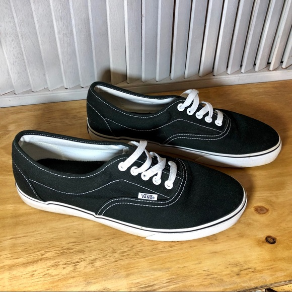 Vans Black Sneakers White Stitching Men
